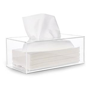 kostenloser Versand Papier Aufbewahrungsbox Facial Acryl Tissue Box, Tissue Holder, Tissue Dispenser mit Magnetabdeckung
