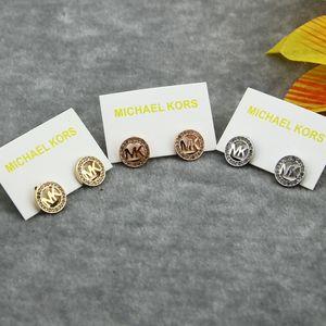 Nuevo diseñador Siver / 18K Rose Gold CZ diamond Circle Stud Pendientes para las mujeres Joyería de moda Hermosa boda / regalo de compromiso envío gratis