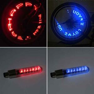 2 teile / los fahrrad 7 led licht berg straße fahrrad reifen ventil kappen radspeichen fahrrad kühle zubehör lampe radfahren bike licht