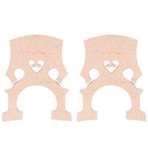 2 Stück 3/4 4/4 Cello Saiten Regulated Kontrabass Kontrabass Brücke Maple Ersatzteile Cello Diy Musikinstrumente Zubehör (4/4)