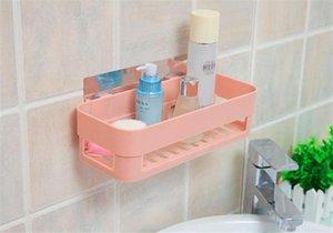 2 colores sin fisuras Pasta Shelf nórdica de baños plataforma de baño reutilizable Bastidores colgantes titulares Almacenajes de artículos de tocador de almacenamiento en rack 15PCS