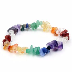 7 Chakra Gravier Irrégulier Pierre Naturelle Bracelets Hologram Réglable Yeux De Tigre Guérison Cristal Bracelets Pour Les Femmes