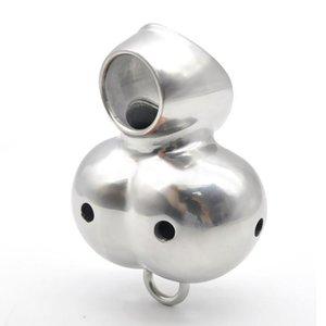 Bondage Chastity Ball Device Enhancer T8754 Bahre Edelstahlhotelkäfig UFTWP