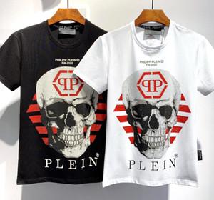 2020ss primavera e l'estate nuovo cotone di alta qualità di stampa manica corta rotonda pannello collo T-shirt Dimensione: m-L-XL-XXL-XXXL Colore: bianco nero # 0033
