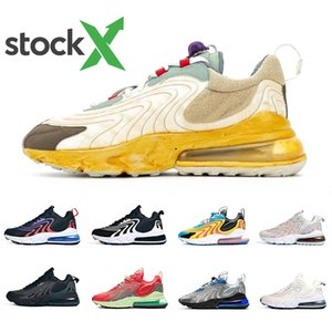 Nike air max 270 React ENG Travis scott Stock X Cactus Trails 270 React ENG Mens Running shoes 270s Royal Laser Blue Pale Pink Men women outdooor sports designer sneakers 36-45