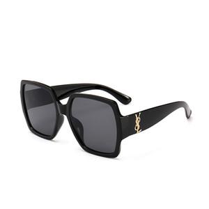 Moda de Nova 66dos homens quentes de YSL e caixa grande guarda-sol vintage da letra de óculos de sol das mulheres