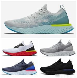 2019 en kaliteli uçuş Epic S0UTH React erkek koşu ayakkabı kolej donanma üçlü siyah koyu gri örgü tasarımcı spor shoes36-45