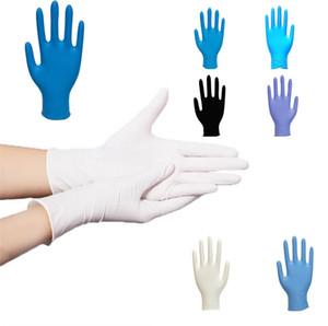 Yeni ev elastik mavi / beyaz / siyah tek kullanımlık eldivenler çevre koruma Iş eldivenleri ev aşınmaya dayanıklı temizlik eldivenleri 7049