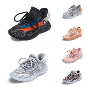 Luminous Infant Clay Toddler Kids Running Shoes Kanye West Static Glow In The Dark Chaussure De Sport Pour Enfant Boys Girls Casual Train #67