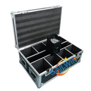 Reino Unido Stock 4x18W 6in1 RGBAW UV a pilhas APP móveis inteligentes LED Stage Light Par Com carregamento Flight Case
