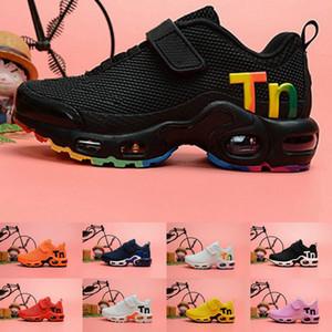 앙팡 플러스 어린이 소년 소녀 트레이너 TNS CHAUSSURES 디자이너 운동화 크기 28-35를 신발을 실행 의욕 럭셔리 스포츠 TN 2019 키즈