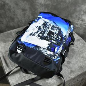 La nueva moda Bolsas mujeres de los hombres al aire libre mochilas Mochila Sport bolso de escuela para la nieve mapa de montaña mochila bolsa