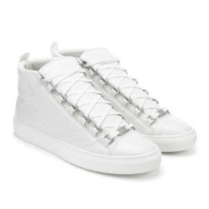 Neue Designer Name Marke Mann Freizeitschuhe Flache Kanye West Mode Faltige Leder Lace-up Low Cut Trainer Runaway Arena Schuhe