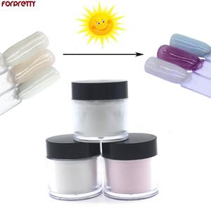 Pó acrílico para unhas líquido mudança da cor por Sun Liqht Limpar Pink White Coloured Polymer forpretty Acrilico monômero Poeder