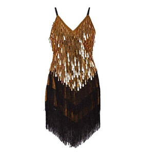 QUALITY Women's Flapper 1920s Costume cocktail Gowns Rhythm Ballroom Salsa Samba Rumba Tango Latin Dance Dress