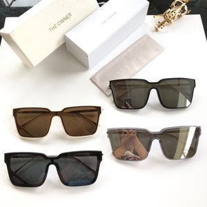 The owner TOS323 2019 Brand design Sunglasses women men Brand designer Fashion metal Oversized sunglasses vintage female male UV400