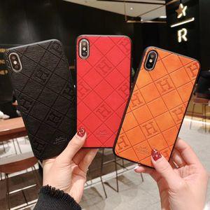 فاخر مصمم العلامة التجارية H الهاتف القضية للحصول على 11 برو XS ماكس XR X 7 8 زائد جلدية الغلاف