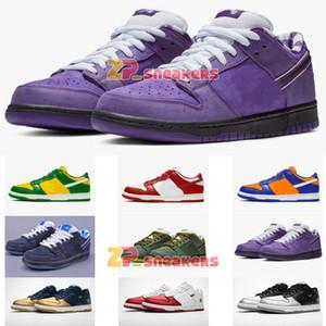 Kavramlar SB Dunk Düşük Kaykay Ayakkabı Kırmızı Mavi Mor Yeşil Istakoz Moda Yıldız Sole Womens Çocuk çocuklar Günlük Spor Ayakkabı