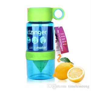 밀짚 휴대용 주전자 자유로운 선박 창조적 인 아이들 수동 주스 컵 여름 선물 460ml 레몬 컵 과일 주입 병