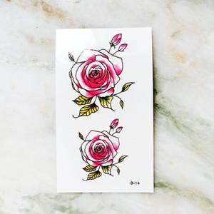macchina del corpo arte autoadesivo provvisorio del tatuaggio rotativo per le donne maniche accessori impermeabili che simulano i tatuaggi di fiori adesivi sesso