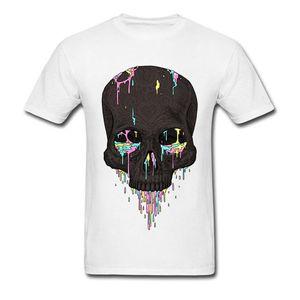 T shirt 2020 100% T-shirt compleanno magliette della caramella di estate Gocciola Skull gli uomini della Discount superiore o collo in cotone