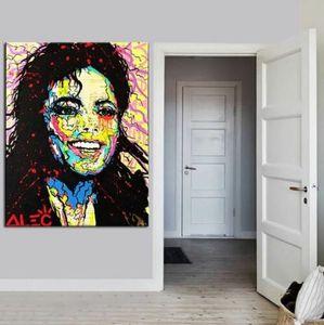 Alec Monopoly Banksy Graffiti el arte de Michael Jackson Decoración pintado a mano de la impresión de HD pintura al óleo sobre lienzo de arte cuadros de la pared de lona 200131