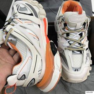 Triple Track 3.0 Chaussures Paris Designer Shoes Tess S Gomma Trek Sneaker luxe Chaussures Blanc Orange homme femme Maladroit extérieur chaussures de sport L29