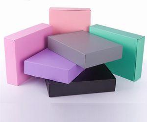 15 * 15 * 5cm 다채로운 핑크 종이 메일 링 박스 익스프레스 배송 선물 선물 포장을위한 골판지 판지 상자