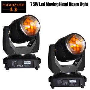 뜨거운 판매 2pcs / lot 75W Led 이동 헤드 빔 빛 DMX512 Led 이동 헤드 스포트 라이트 (미국 빛나는) / 초점 / 3면 Gobo 빛 90V-240V