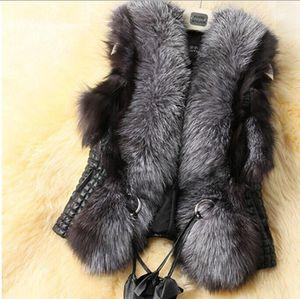 Colete De Pele queda Feminino Plus Size curto sem mangas Falso Fur Vest mulheres elegantes 2018 Lazer Preto Faux Fur Vest Brasão V537