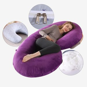 C-Shape Side Sleeper Support Cuddly Removable Pregnancy Cotton Pillowcase Maternity Body Pillow