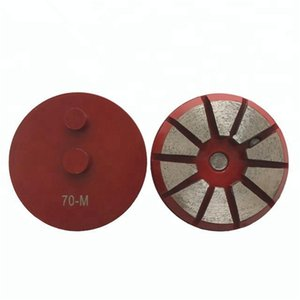 KD-T70 9 Pieces 3 Inch D80mm Ten Segments Diamond Grinding Wheel with Double Pins Diamond Polishing Disc for Concrete and Terrazzo Floor