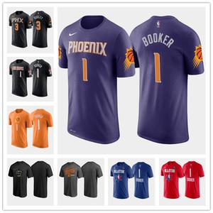 Phoenix mujeres jóvenes hombres de encargoSoles1 DevinBooker blanco negro púrpura de la vuelta de BaloncestoNBAcamiseta Jersey