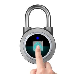 Smart Electronic Posicionable Candado Impermeable Almacén Puerta de Seguridad Bloqueo Bluetooth Transpresión de huellas digitales Candillas de equipaje al aire libre DH1182 T03