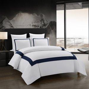 Yimeis Sábanas un conjunto geométrico del lecho de costura edredón de cama doble cama de lujo BE45005 CY200519