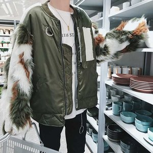 فوكس 2020 Men's Winter Thicken Jacket Fake Long-sleed Coats Keep Warm Fashion Parka Men