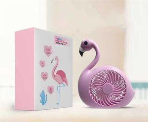 Creative Flamingo Mini Ventilateur Usb Force Rechargeable Vent Ventilateurs Articles Nouveauté Étudiant Bureau Ornement Vente Chaude 18mh E1