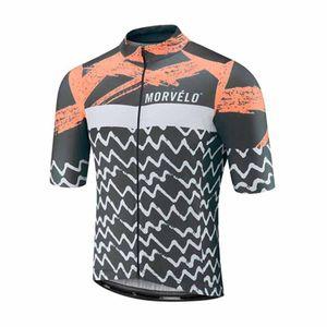 NOVITÀ Maglia ciclismo manica corta Morvelo team 2019 uomo estate quick dry bicicletta bicicletta jersey sportwear 60609