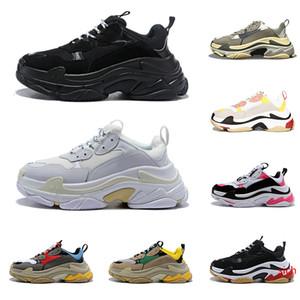 2020 sapatos triplos s grife para homens mulheres sapatilhas de vintage black white Bred 20fw rosa mens luxo formadores grandes sneakers únicos esportes