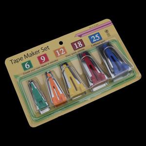 Cucito Accessori Bias Tape Makers - 5 Dimensioni 6mm 9 millimetri 12 millimetri 18 millimetri 25 millimetri Bias Binding Tape Maker