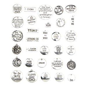 31 Pieces Retro Alloy Charms Pendants DIY Accessories Sewing Necklace