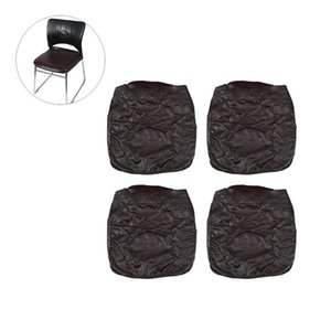 Elastic Spandex Solid PU Dining Chair Covers, Stretch Removable Washable Short Dining Chair Protect Slipcover for Kitchen Bar Ho