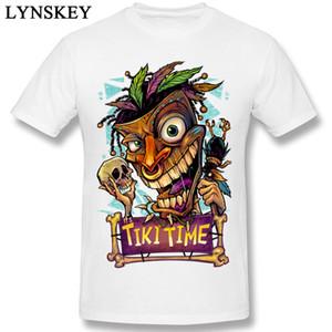 Tiki Zaman Erkek Tişört Canavar Kafatası 2019 erkek Yepyeni Hip Hop Moda T-Shirt Şeytan Kafatası 3d Modeli T Gömlek Karikatür