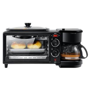 Kahvaltı Makinesi Çok Fonksiyonlu 3 in 1 mikrodalga fırın Kahve Makinesi Mini elektrikli fırın Ev Aletleri pişirme tepsisi