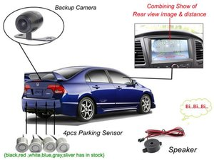 Car Parking Sensor Backup Camera Four Sensors Rearview Video Tft Dvd Dvr Monitor Distance Bibi Alarm Pz600 403 64 Colors Drill Av Cable Post