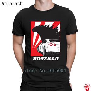 Coche Gtr Godzilla humor de la camiseta Natural Imprimir Camiseta 2018 Hiphop S-3XL de algodón lindo normal de los hombres