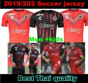 Adulto + crianças Kit 2019 2020 Sharks Veracruz vermelho camisas de futebol tubarão fc 19 20 mens definir Camiseta de meninos futbol suit # 11 MENENDEZ # 10 REYNA