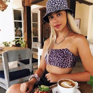 Summer Sleeveless Womens Bralette Plain Off Shoulder Vest Crop Top Tank Tops Bras Bustier Party Leopard Sexy Hot Clothes