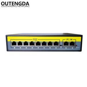 مهايئ محول PoE بقدرة 8 ميجابت في الثانية بسرعة 2 جيجابت عبر الإيثرنت IEEE 802.3af / at للكاميرات AP VoIP حاقن المفتاح المدمج بقوة 120 واط