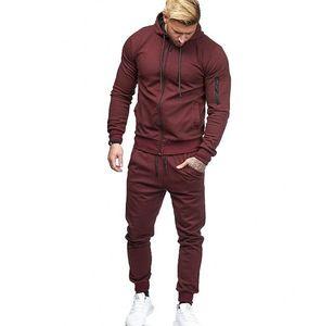 رجل مصمم رياضية survetement الصلبة لون مسار دعوى الركض الدعاوى الرجال pantalon shipment